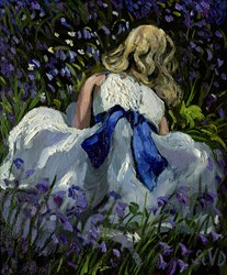 The Blue Ribbon by Sherree Valentine Daines -  sized 9x10 inches. Available from Whitewall Galleries